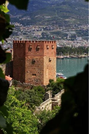 トルコ・アランヤのクズル・クレ城