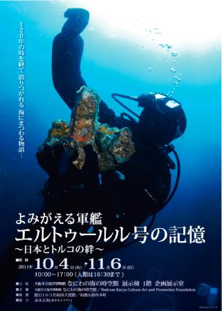 串本で沈没した軍艦エルトゥールル号の企画展