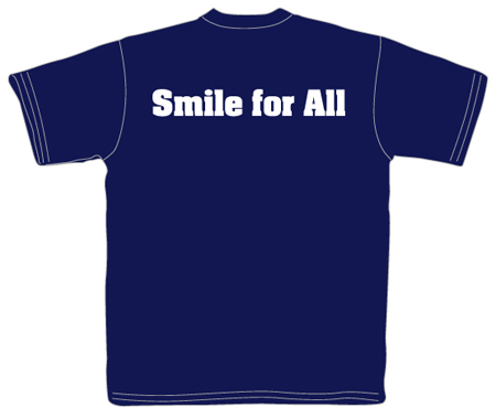 ガイド会Tシャツ(裏面・Smile for all.)