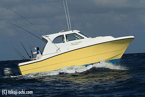 メキシコのバショウカジキスイムのボート(撮影:越智隆治)