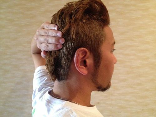 マスクストラップの位置と後頭部