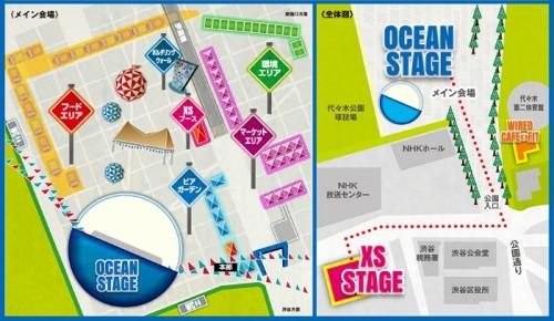 OCEAN PEOPLES ステージマップ