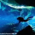 メキシコ、セノーテでのダイビング(撮影:越智隆治)