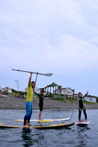 三戸浜のスタンド・アップ・パドルサーフィン