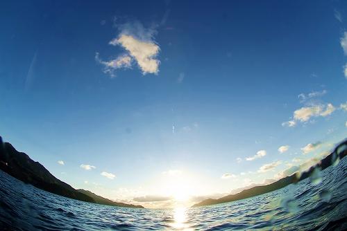 海の中からの新年のご挨拶