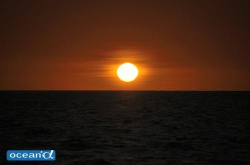 パプアニューギニアの夕日(撮影:中村卓哉)