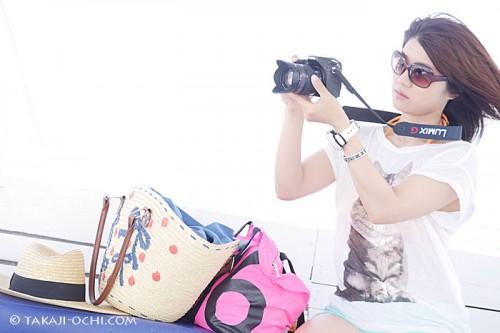 今回、撮影に使用したのは、Panasonic LUMIX GH3。軽量で女性に人気のミラーレス一眼の中にありながら、プロ向けに開発されているため、僕のようなプロカメラマンでも、仕事で使える、個人的にも、普段かなり多用しているカメラです