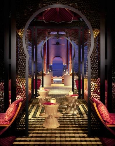 幻想的な雰囲気に包まれたルー・バー。こちらもイスラミックコンセプト