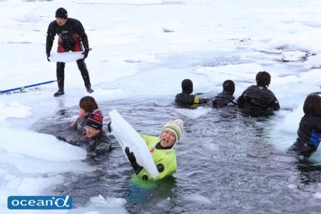 北海道の流氷ダイビング(撮影:越智隆治)