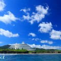 恩納村の海と青空(撮影:越智隆治)