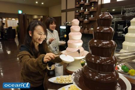 女子に人気のチョコレートフォンデュ