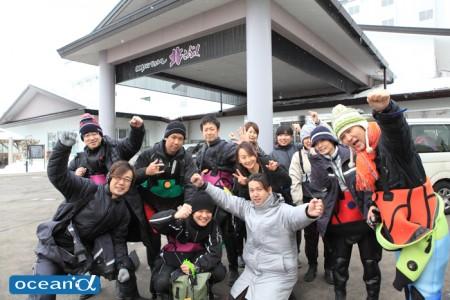 アビイウェーブのツアーに参加した北のダイバーたち。札幌を中心に、北海道のダイビングも意外と盛ん。本州ダイバーも機会があればぜひ!