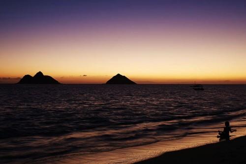 ラニカイビーチの朝日