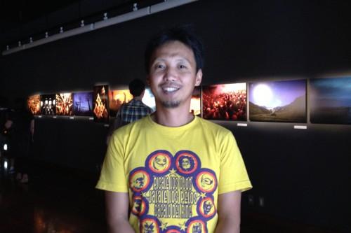 写真展会場でお会いした竹沢うるまさん