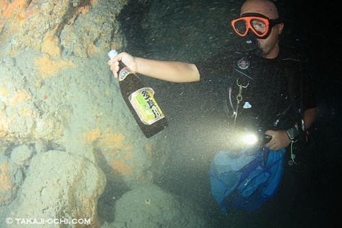 オーシャナでキープする海底泡盛