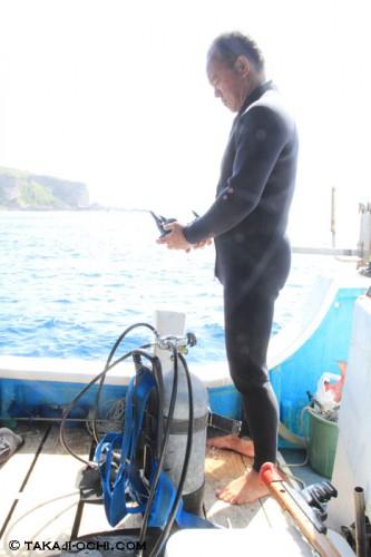 DIVE宮古島のオーナー・ヒロさん(砂川博一さん)(撮影:越智隆治)
