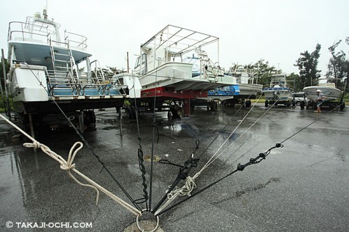 台風の宮古島(撮影:越智隆治)