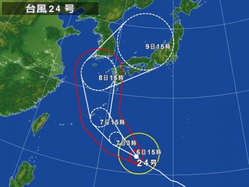 宮古島と台風24号