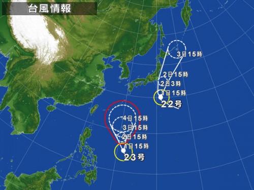 宮古島と台風23号