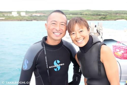山本大司潜水案内の山本さんご夫婦(撮影:越智隆治)