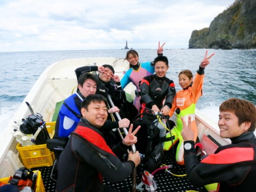 北海道でのダイビング