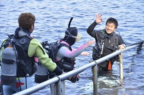 富戸「ヨコバマ」でのダイビング(撮影:石丸智仁)