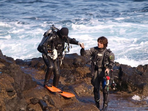 伊豆大島ボランティア&ダイビング