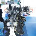 オーストラリアのクルーズでの器材セッティング(撮影:越智隆治)