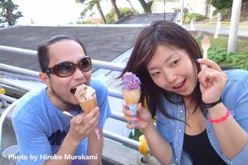 御蔵島ふくまる商店でのジェラートアイス