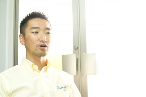 フィッシュアイの海外担当セールスマネージャー・岡田一敏さん