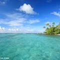 マーシャルのビーチと青い海と空(撮影:越智隆治)