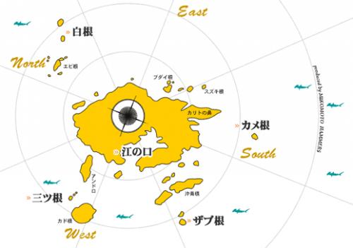 神子元島のダイビングポイントマップ