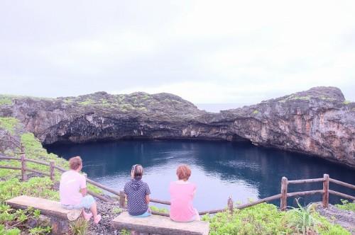 宮古島の通り池(撮影:むらいさち)