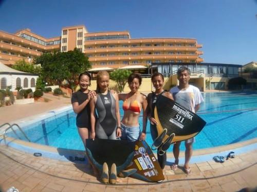 フリーダイビングのトレーニング練習