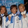 2014年フリーダイビング世界大会で銀メダルを獲得した人魚ジャパン