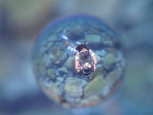 宙玉(そらたま)レンズでむらいさちさんを撮った写真