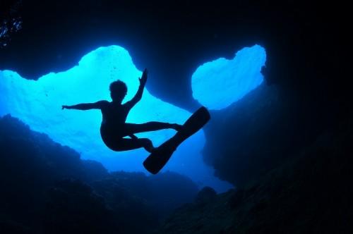 水中スノボー(撮影:むらいさち9