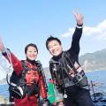 ダイビングサービスむらいの村井智臣と稲生薫子(撮影:越智隆治)