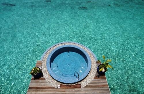 モルディブ・ヌーヌ環礁のリゾート(提供:高井章太郎)