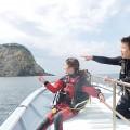 妻良のボートダイビング(撮影:寺山英樹)