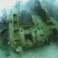マーシャル諸島ビキニ環礁の戦艦長門(撮影:越智隆治)