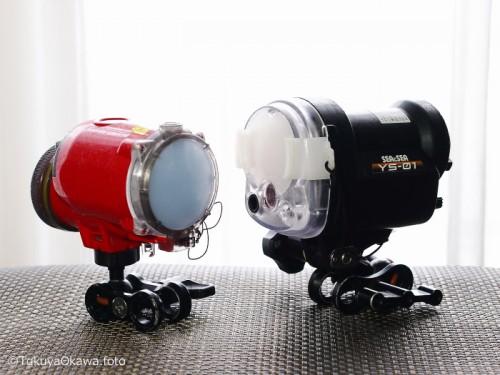 左:S-2000(INON) 右:YS-01(SEA&SEA)