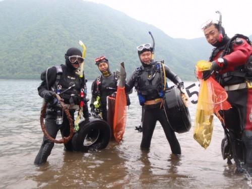 JCUE本栖湖クリーンアップ2015