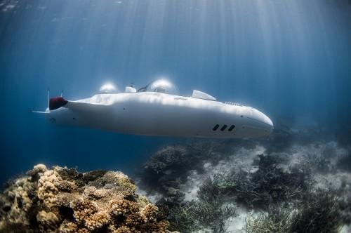 個人用潜水艇Super Falcon (撮影:トニーウー)