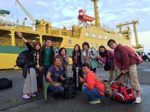 御蔵島へ着岸