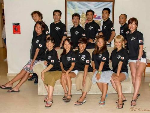 フリーダイビング世界大会日本選手団(提供:武藤由紀)