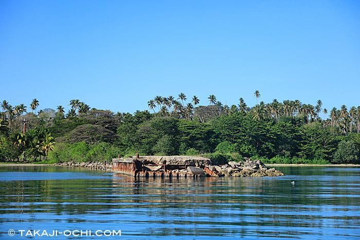 ラバウルのイルカが生息する湾