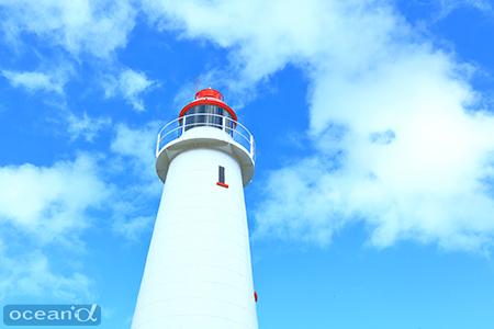 レディエリオット島のシンボルにもなっているかわいい灯台