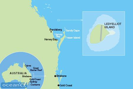 レディエリオット島へは、ゴールドコースト、ブリズベン、ハービーベイなどからセスナが出ている