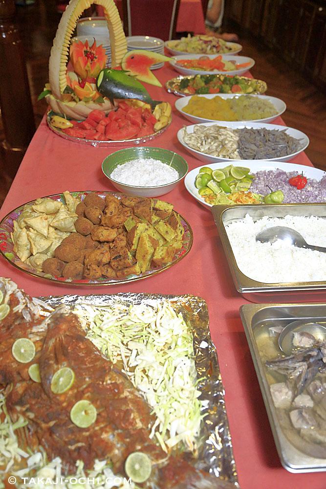 モルディブの食卓